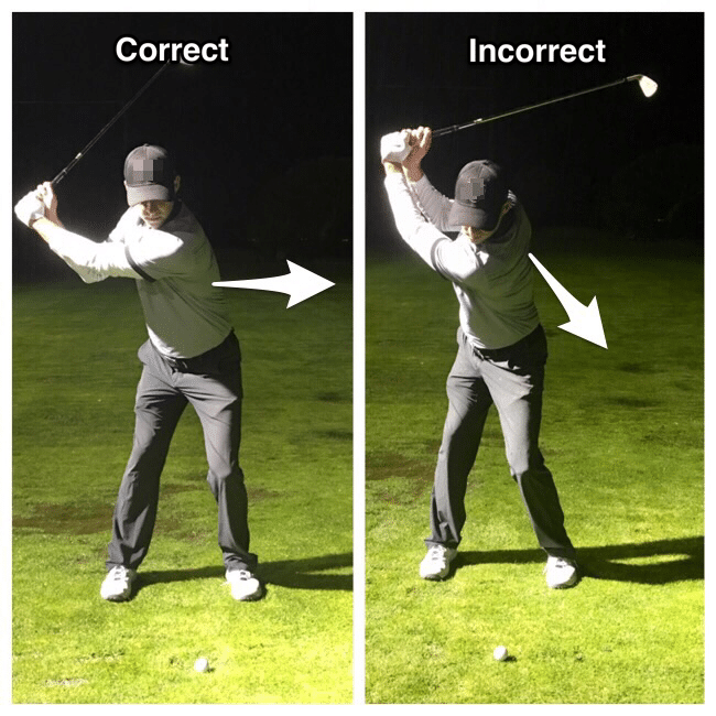 positioned at the top of your backswing