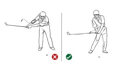 Weight Transfer to lag swing