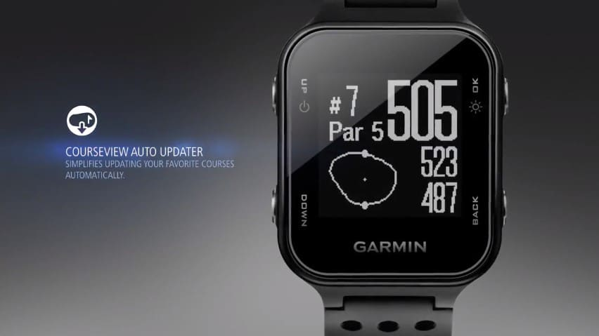 Garmin s20 Courseview auto update