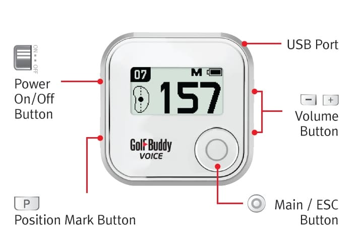 GolfBuddy Voice Buttons